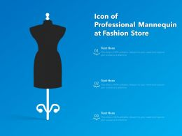 Icon Of Professional Mannequin At Fashion Store