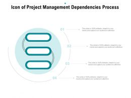 Icon Of Project Management Dependencies Process