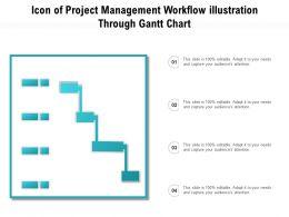 Icon Of Project Management Workflow Illustration Through Gantt Chart