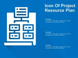 Icon Of Project Resource Plan