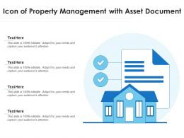 Icon Of Property Management With Asset Document