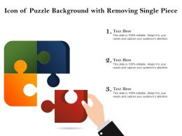 Icon Of Puzzle Background With Removing Single Piece