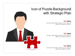 Icon Of Puzzle Background With Strategic Plan