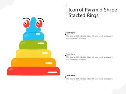 Icon Of Pyramid Shape Stacked Rings