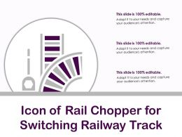 Icon Of Rail Chopper For Switching Railway Track