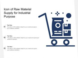 Icon Of Raw Material Supply For Industrial Purpose