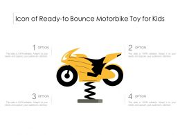 Icon Of Ready To Bounce Motorbike Toy For Kids