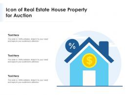 Icon Of Real Estate House Property For Auction