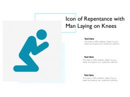 Icon Of Repentance With Man Laying On Knees