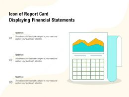 Icon Of Report Card Displaying Financial Statements