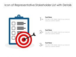 Icon Of Representative Stakeholder List With Details