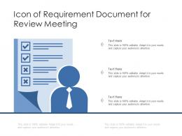 Icon Of Requirement Document For Review Meeting