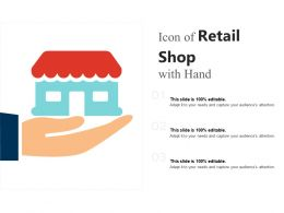 Icon Of Retail Shop With Hand