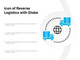 Icon Of Reverse Logistics With Globe