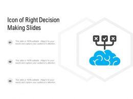 Icon Of Right Decision Making Slides