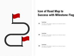 Icon Of Road Map To Success With Milestone Flag