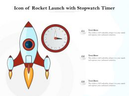 Icon Of Rocket Launch With Stopwatch Timer