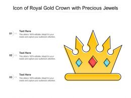 Icon Of Royal Gold Crown With Precious Jewels