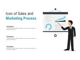 Icon Of Sales And Marketing Process