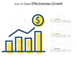 Icon Of Sales Effectiveness Growth