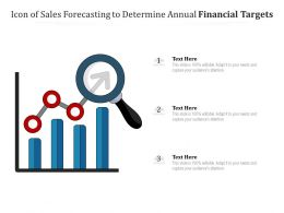 Icon Of Sales Forecasting To Determine Annual Financial Targets
