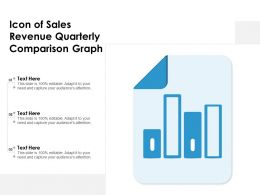 Icon Of Sales Revenue Quarterly Comparison Graph