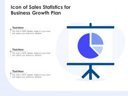 Icon Of Sales Statistics For Business Growth Plan
