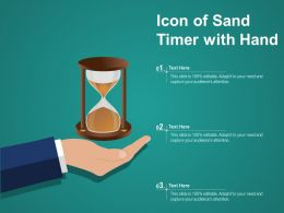 Icon Of Sand Timer With Hand