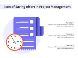 Icon Of Saving Effort In Project Management