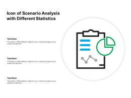 Icon Of Scenario Analysis With Different Statistics