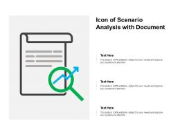 Icon Of Scenario Analysis With Document