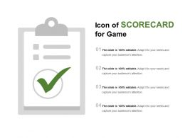 Icon Of Scorecard For Game