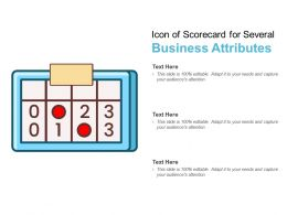 Icon Of Scorecard For Several Business Attributes