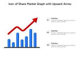 Icon Of Share Market Graph With Upward Arrow