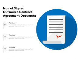 Icon Of Signed Outsource Contract Agreement Document