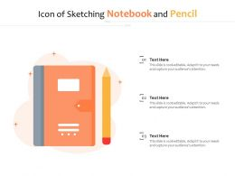 Icon Of Sketching Notebook And Pencil