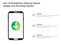 Icon Of Smartphone Showing System Update With Download Button