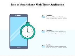 Icon Of Smartphone With Timer Application