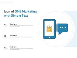 Icon Of Sms Marketing With Simple Text