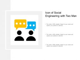 Icon Of Social Engineering With Two Man