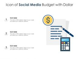 Icon Of Social Media Budget With Dollar