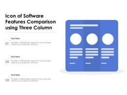 Icon Of Software Features Comparison Using Three Column