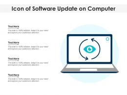 Icon Of Software Update On Computer
