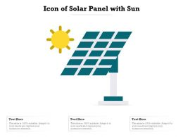 Icon Of Solar Panel With Sun