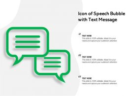 Icon Of Speech Bubble With Text Message