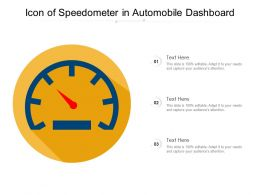 Icon Of Speedometer In Automobile Dashboard