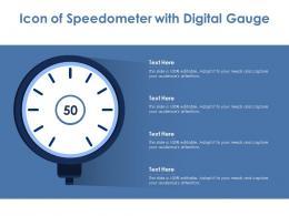 Icon Of Speedometer With Digital Gauge
