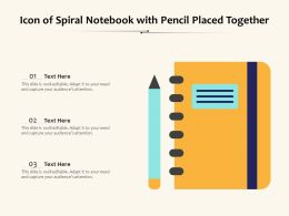 Icon Of Spiral Notebook With Pencil Placed Together