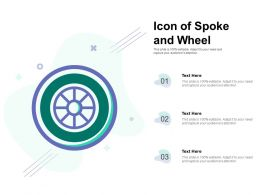 Icon Of Spoke And Wheel