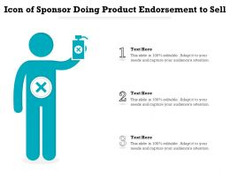 Icon Of Sponsor Doing Product Endorsement To Sell